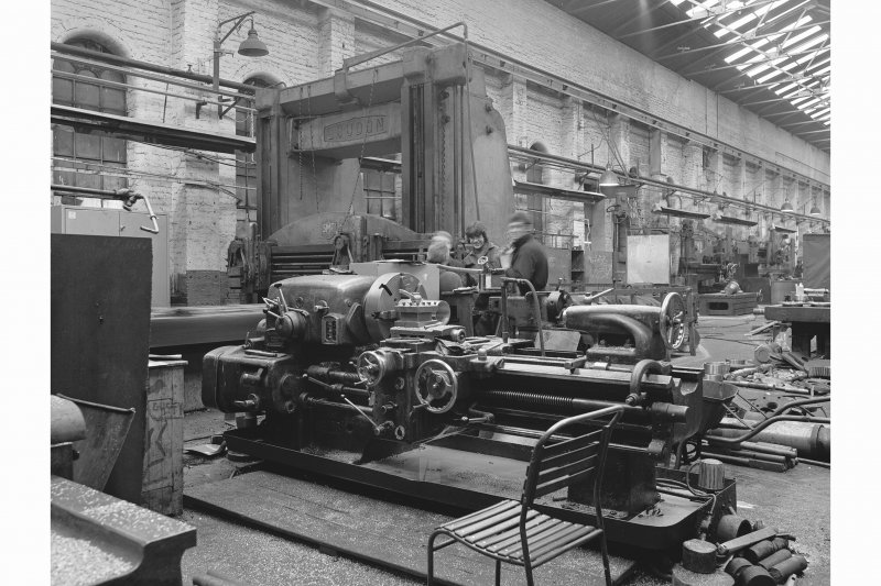 Glasgow, Clydebridge Steel Works, Interior View of engineering shop showing Loudon planing machine SMT 57/32