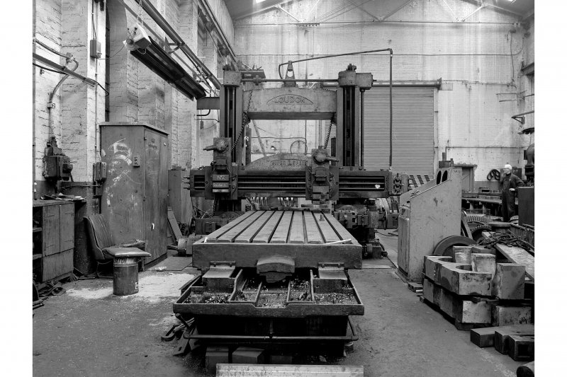Glasgow, Clydebridge Steel Works, Interior View of engineering shop showing Loudon planing machine