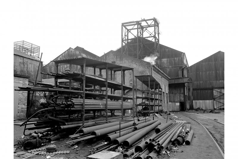 Glasgow, Clydebridge Steel Works View showing plumbers' shop