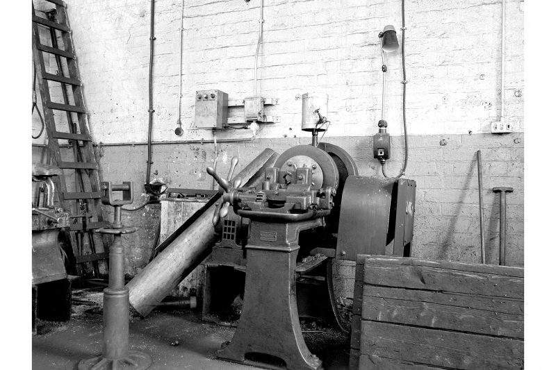 Glasgow, Clydebridge Steel Works, Interior View of plumbers' shop showing screwing machine by Joshua Heap