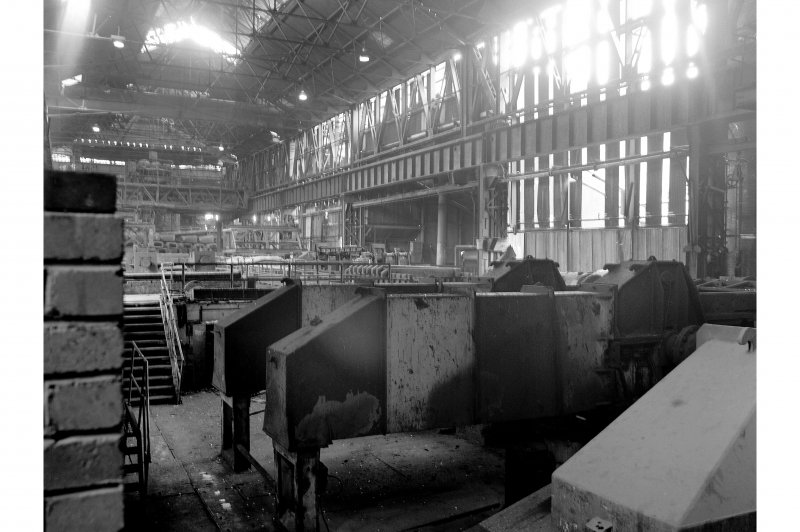 Glasgow, Clydebridge Steel Works, Interior View from slabbing mill to soaking pits