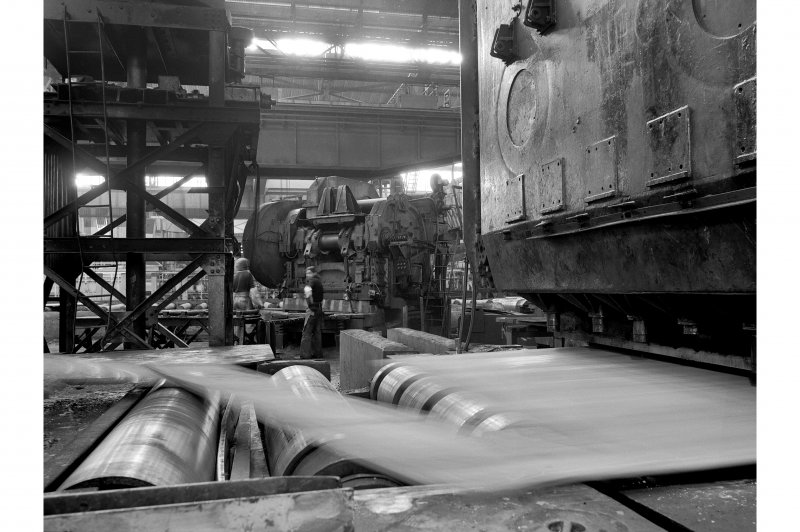 Glasgow, Clydebridge Steel Works, Interior View showing plate shear