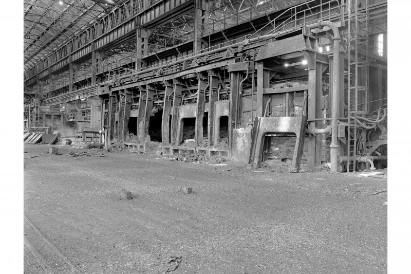 Glasgow, Clydebridge Steel Works, Interior View showing 90 ton fixed open-hearth furnace L