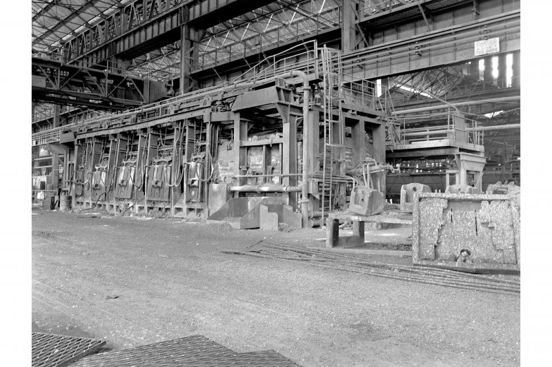 Glasgow, Clydebridge Steel Works, Interior View showing 90 ton fixed open-hearth furnace M