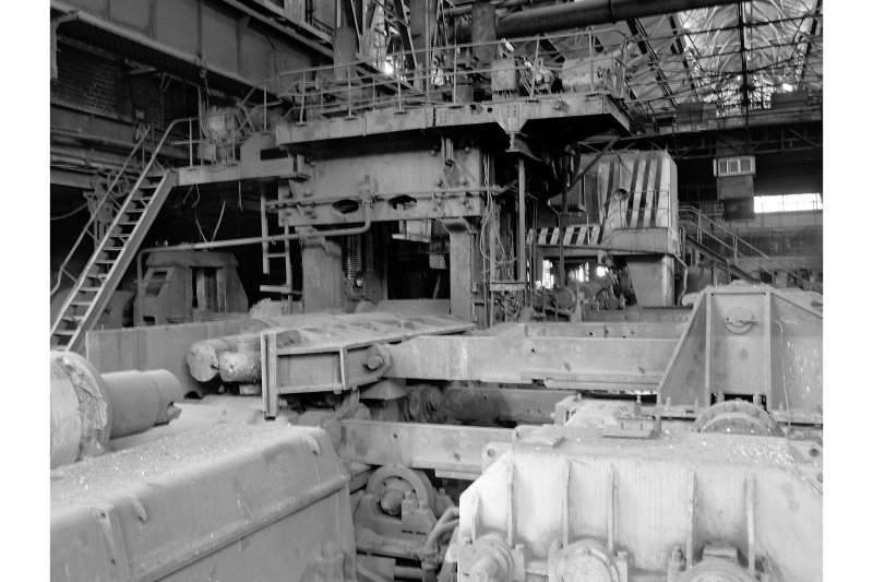 Glasgow, Clydebridge Steel Works, Interior View showing cogging mill (slabbing mill), by Colvilles