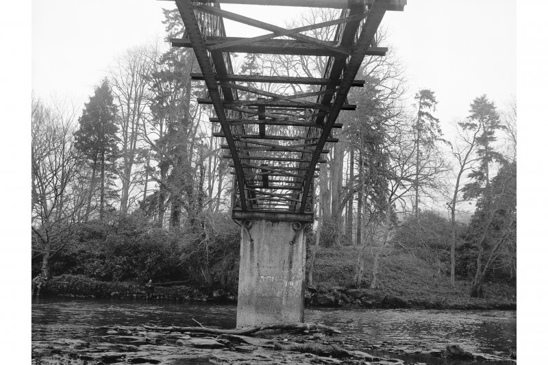 Crossford, Suspension Bridge View showing underside of span