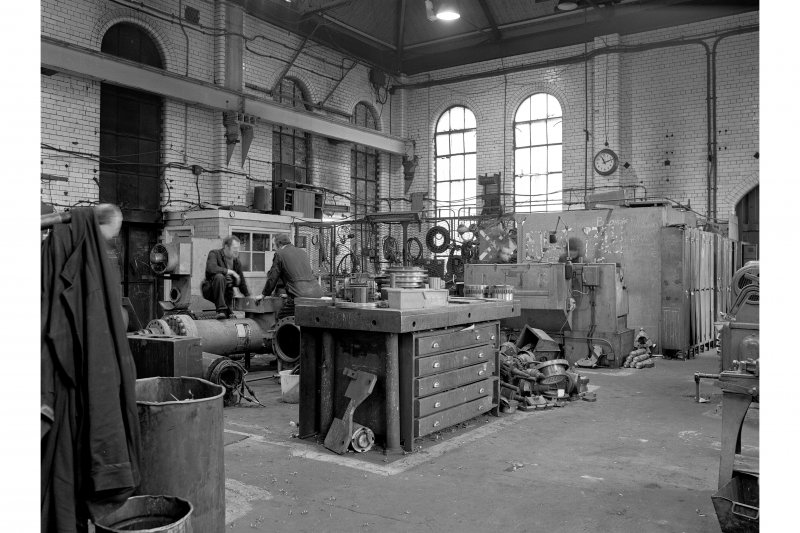 Glasgow, Clydebridge Steel Works, Interior View showing old power station, now electricians' shop