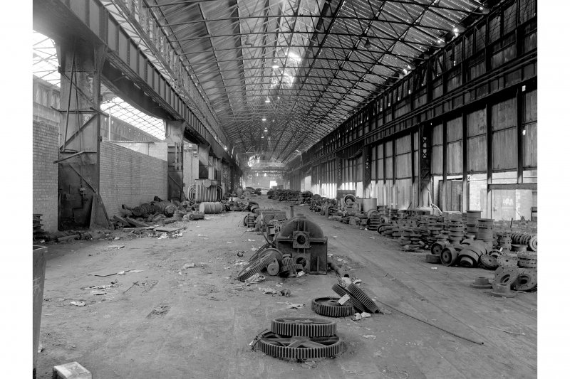 Glasgow, Clydebridge Steel Works, Interior View showing old plate mill