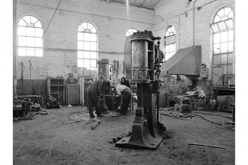 Glasgow, Clydebridge Steel Works, Interior View showing Ross-Rigby hammer 2333, R. G. Ross and Sons