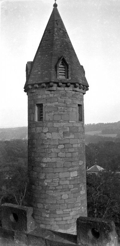 Detail of round tower.