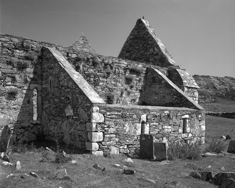 Oronsay Priory, McDuffie Aisle. View from South-West showing MacDuffie Aisle.