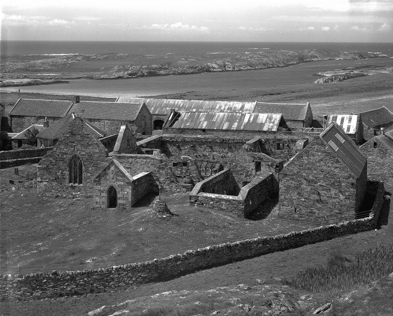 Oronsay Priory. General view from North-East.