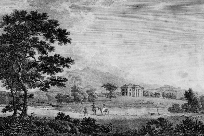 Duddingston House Photographic copy of engraved general view