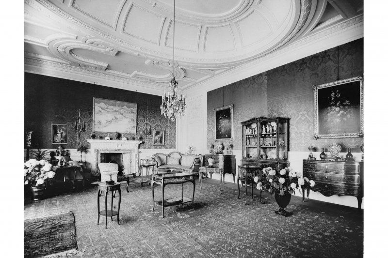 Edinburgh, Cramond Road South, Lauriston Castle Interior view of drawing room