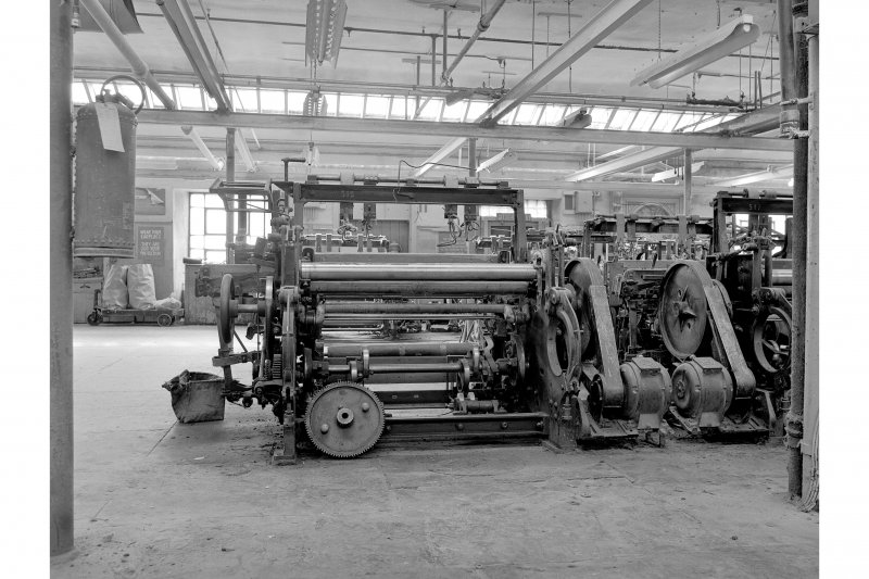 Dundee, Princes Street, Upper Dens Mills, Interior View showing 1948 canvas loom, Mackie, Belfast