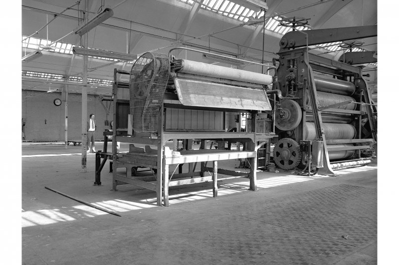 Dundee, Princes Street, Upper Dens Mills, Interior View showing measuring machine