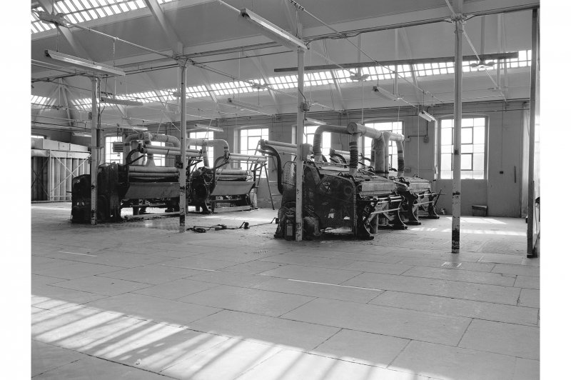Dundee, Princes Street, Upper Dens Mills, Interior View showing damping machine