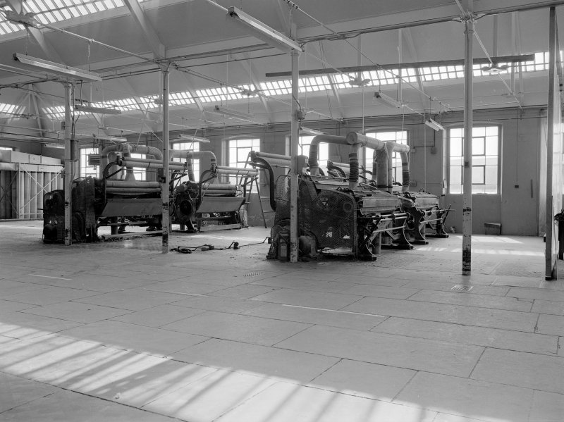 Dundee, Princes Street, Upper Dens Mills, Interior View showing cropping machines, A. F. Craig Limited, Paisley (L to R 1472, 1470, 1417, 1314)