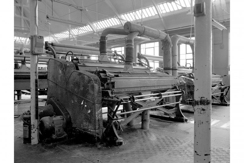 Dundee, Princes Street, Upper Dens Mills, Interior View showing cropping machine, A. F. Craig Limited, Paisley