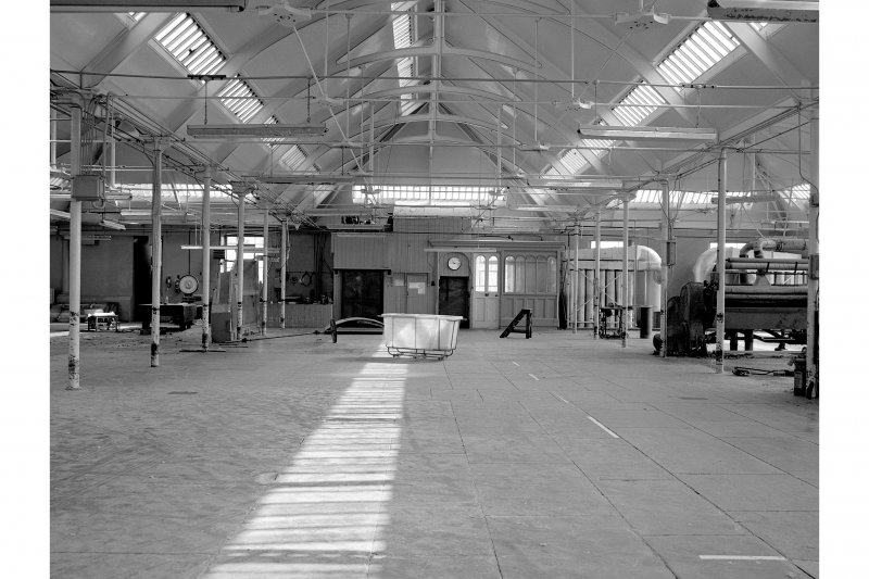 Dundee, Princes Street, Upper Dens Mills, Interior View showing floor and roof construction