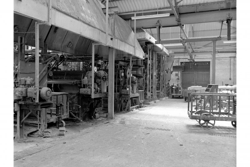 Dundee, Princes Street, Upper Dens Mills, Interior View of fulling house showing proofing machine