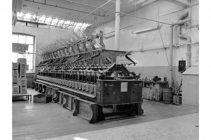 Dundee, Princes Street, Upper Dens Mills, Interior View of fulling house showing machine