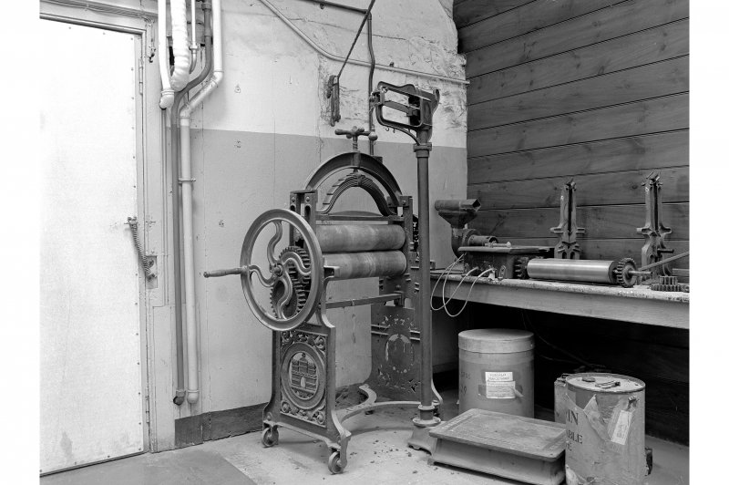 Dundee, Princes Street, Upper Dens Mills, Interior View of laboratory showing mangle