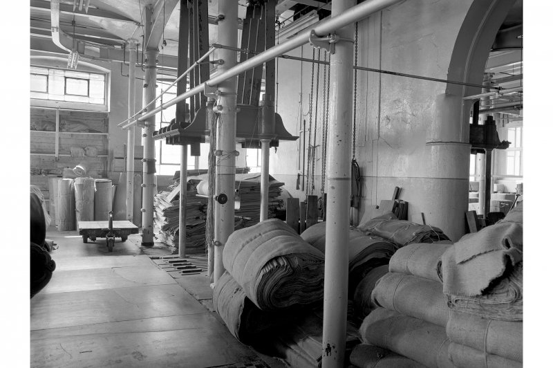 Dundee, Princes Street, Upper Dens Mills, Interior View of packing shop showing third press, single ram