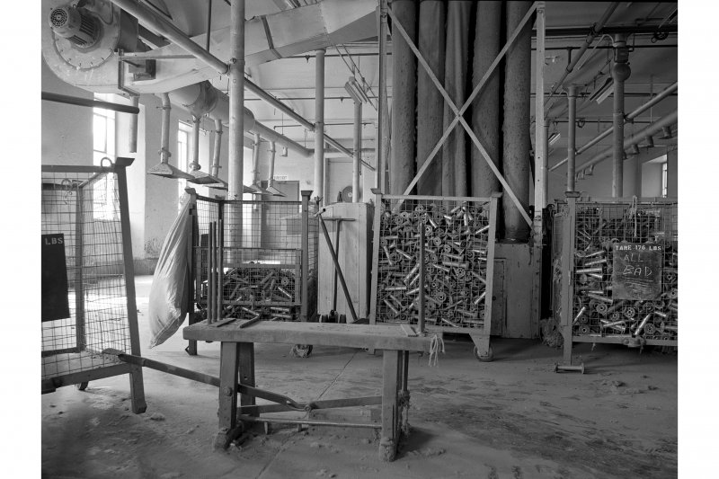 Dundee, Princes Street, Lower Dens Mills, Interior View showing Hank banding bench