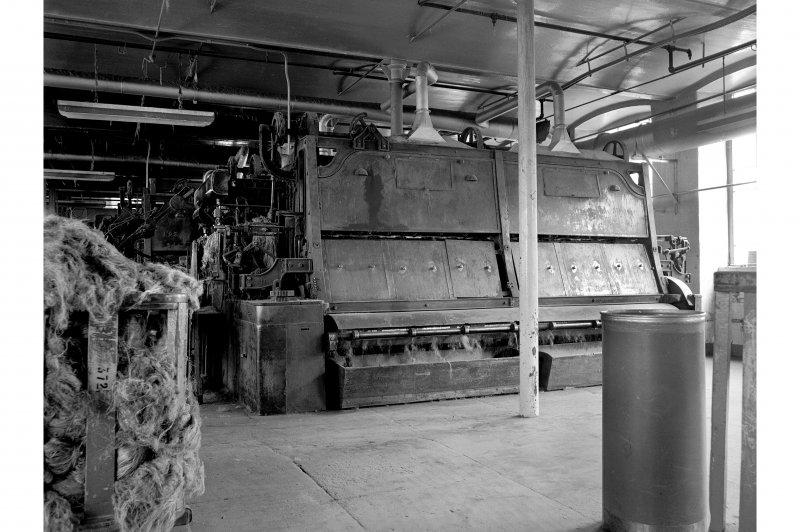 Dundee, Princes Street, Lower Dens Mills, Interior View showing Hickling machines, Longworth and Company Limited, nearest number 208, drawing head, (l) Fairbairn Lawson Combe Barbair 2962 of 1933