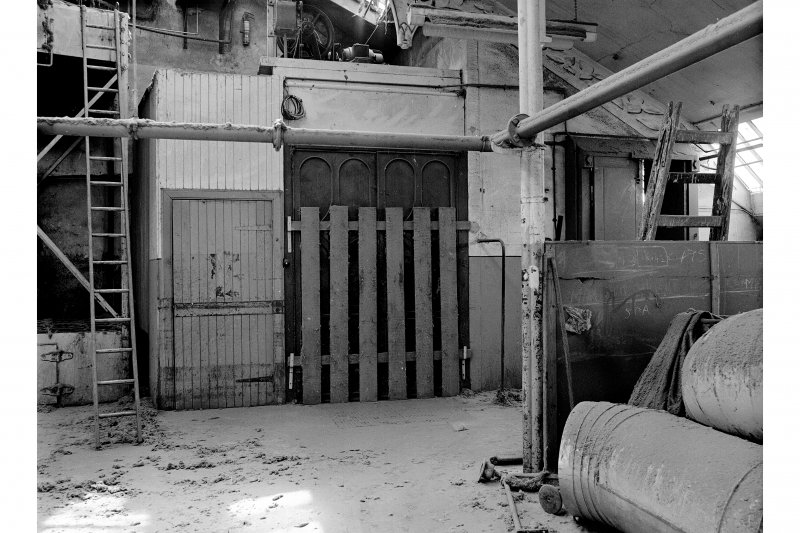 Dundee, Princes Street, Lower Dens Mills, Interior View showing hoist door