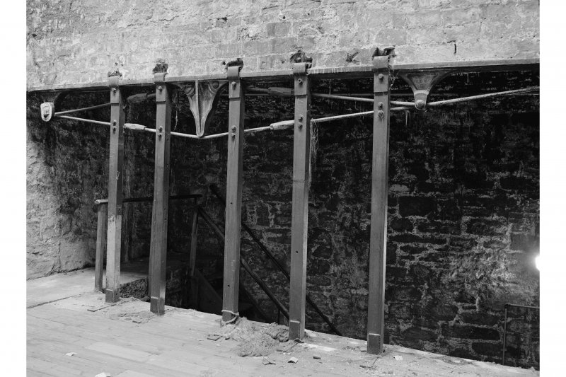 Dundee, Princes Street, Lower Dens Mills, Interior View of flax store showing compound trussed beam