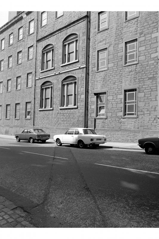 Dundee, Princes Street, Upper Dens Mills View from SE of old block showing SSE front of engine bay