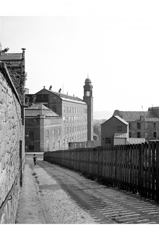 Dundee, Princes Street, Lower Dens Mills View from NNW showing W front of Bell mill