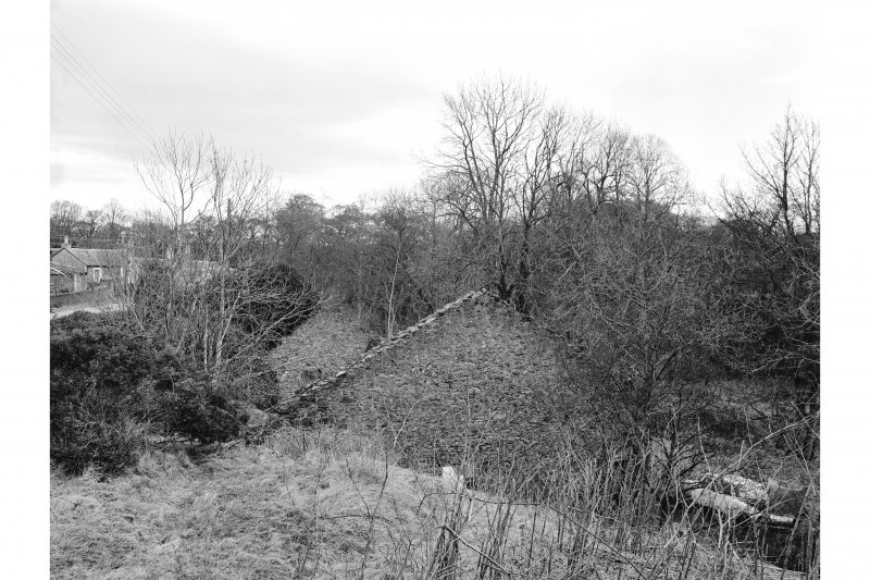 Millhouse, Kames Gunpowder Works View from SW showing ruinous remains of W building