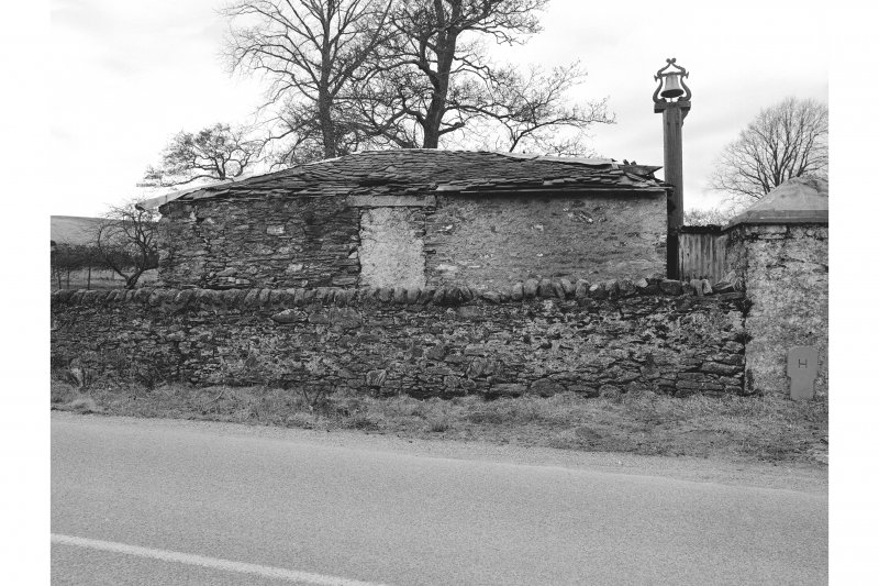 Millhouse, Building View from SE showing SE front of building with gunpowder works bell on the right