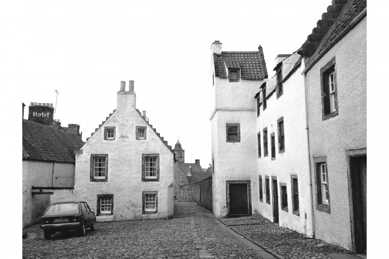 Culross, The Cross, The Study View from E showing SSE front of The Study and ENE front of House at corner of the Cross and Back Causeway