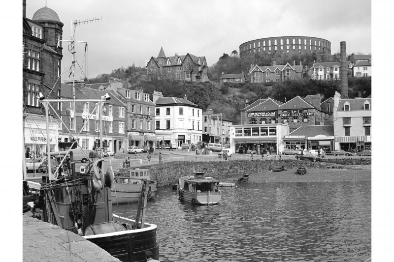 Oban, General View from WSW showing buildings on Stafford Street and George Street with McCaig's Tower in background