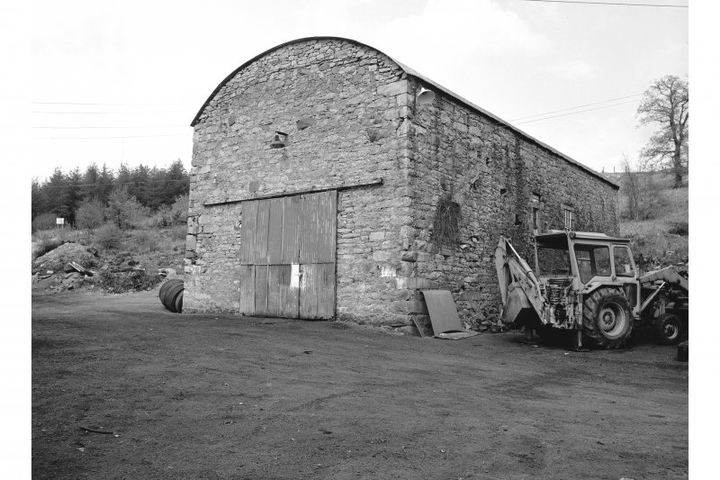 Furnace, Craleckan Ironworks, Charcoal Shed View from SW showing WSW and SSE fronts