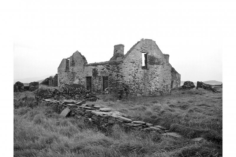 Belnahua Slate Quarry View of store and house, from N
