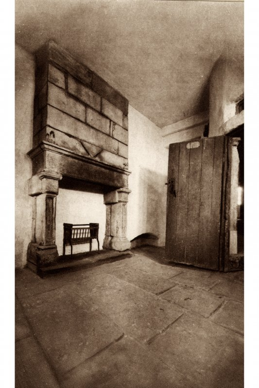 Huntly House, interior Postcard showing view of Fireplace Titled: 'Huntly House, Canongate, Edinburgh  An old fireplace'