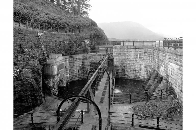Loch Katrine Reservoir View of aqueduct entrance at Royal Cottage