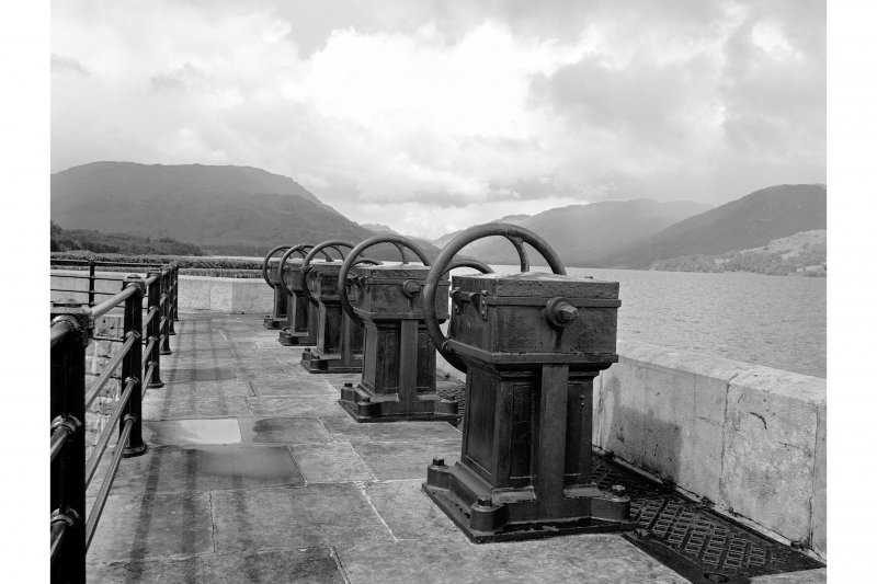 Loch Katrine Reservoir View of sluices at Royal Cottage
