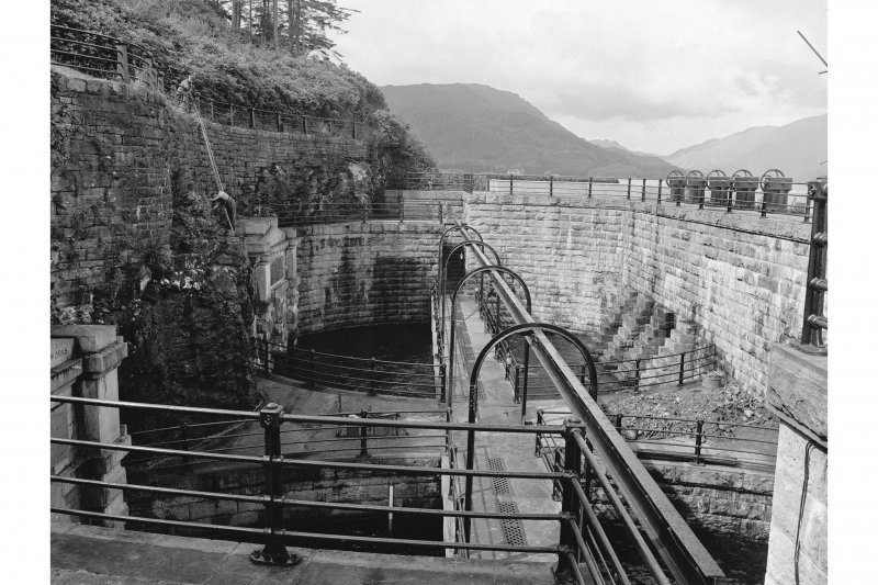 Loch Katrine Reservoir View of aquaduct entrance at Royal Cottage