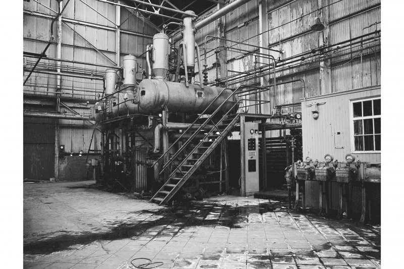 Grangemouth Refinery, Interior View showing three effect evaporator in Aromatic Separating Plant