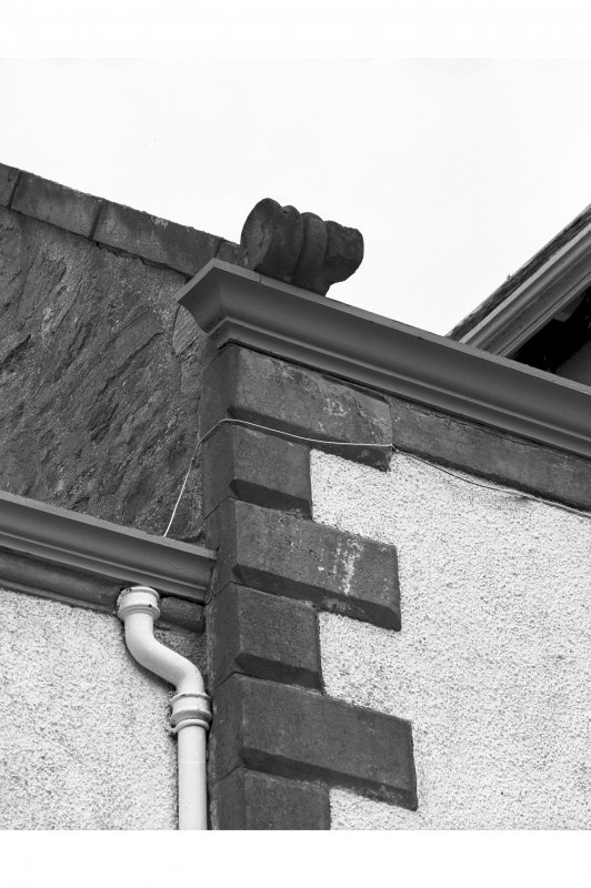 Ardpatrick House. Detail of skewput on main front.