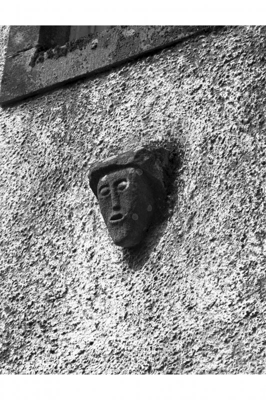 Ardpatrick House. Detail of carved head on North end of main front.