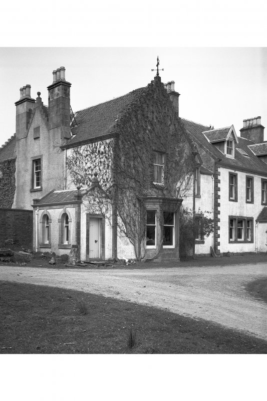 Ardpatrick House. View of main front of Victorian South wing.