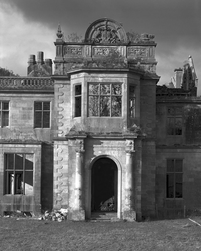 Poltalloch House View of main entrance from east