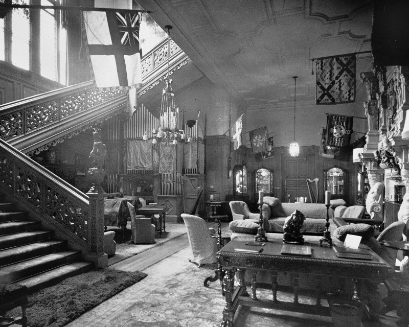 Poltalloch House Interior - view of the entrance hall
